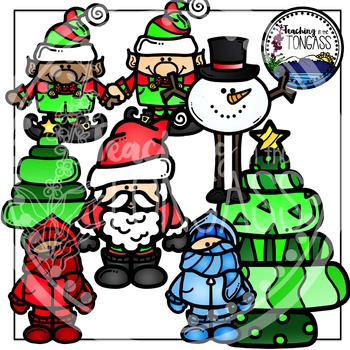 Funky Winter and Christmas Clipart