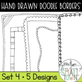 20 Doodle Border Frames // Mini Set #4 //  Personal and Co