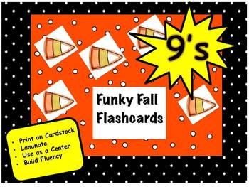 Funky Fall Flashcards 9's