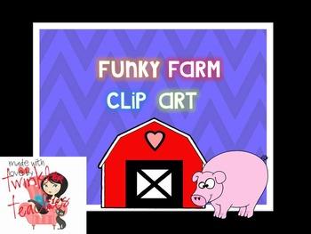 Funky Farm Clip Art