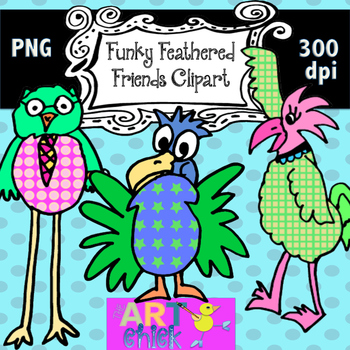 Funky Feathered Friends Clipart