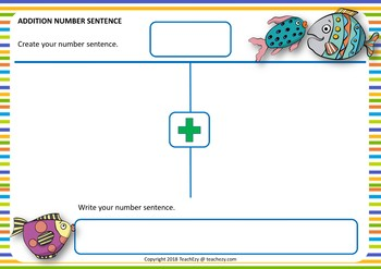 Funky Fish Addition Number Sentences Freebie