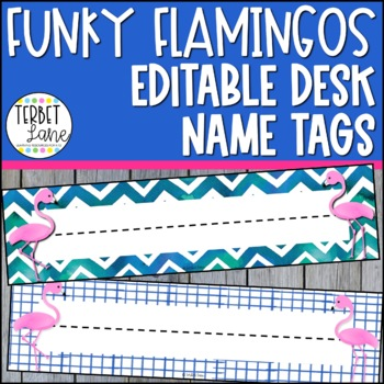 Funky Flamingo Desk Name Plates