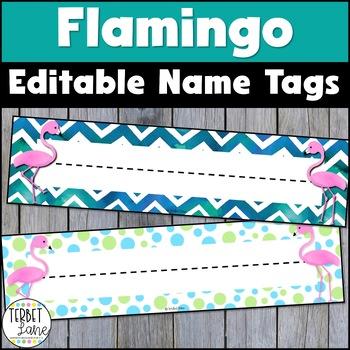 Funky Flamingo Desk Name Plates