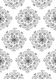 Funky Flower Pattern Spring Coloring Page Printable
