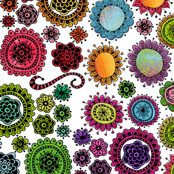 Designer's Resource: Funky Flowers One Clip Art