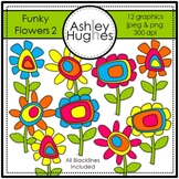 Funky Flowers 2 Clipart {A Hughes Design}