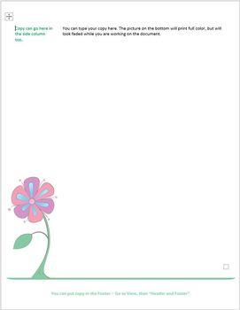 Funky Flowers Customizable Letterhead