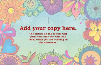 Funky Flowers Customizable Poster 2