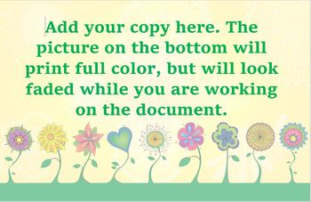 Funky Flowers Customizable Posters