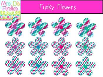 Funky Flowers FREEBIE