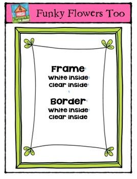 Funky Flowers Too {P4 Clips Trioriginals Digital Clip Art}