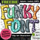 Funky Font Clip Art Characters: FREEBIE Sample | Movable I