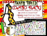Funky Fonts - COMBO PACK! - Personal & Commercial use