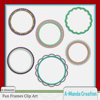 Funky Frames Clip Art