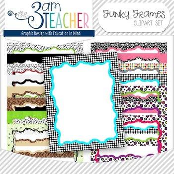 Funky Frames Set (clip art borders) by The 3am Teacher | TpT