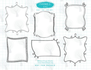 Funky Frames and Border Clipart Set
