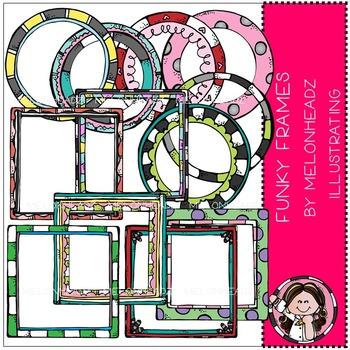 Melonheadz: Funky Frames clip art - COMBO PACK