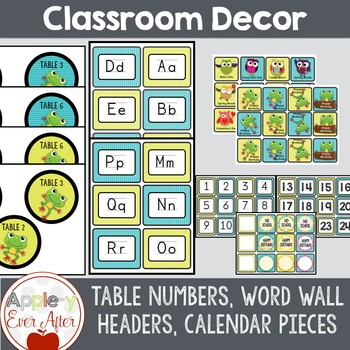 Funky Frogs Classroom Decor - Over 150 Pages of Classroom Essentials!
