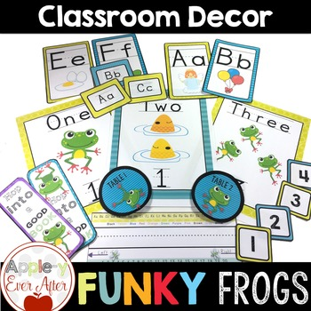 Funky Frogs Classroom Decor - Over 150 Pages of Classroom