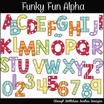 Funky Fun Alphabet Clipart Collection