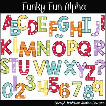 Funky Fun Alphabet Clipart Collection