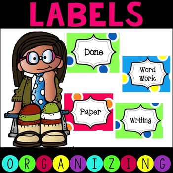 Funky Fun Classroom Labels & Word Wall Letters