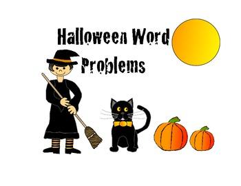 Funky, Fun Halloween Word Problems