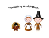 Funky, Fun Thanksgiving Word Problems