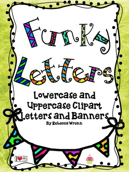 Funky Uppercase and Lowercase Alphabet Clip Art