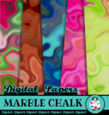 Funky Marble Chalk Papers
