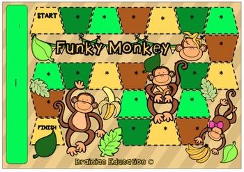 Funky Monkey Blank Board Game (EDITABLE)