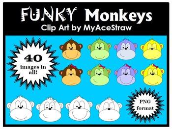 Funky Monkey Clip Art