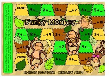 Funky Monkey Rainbow Fact Board Game