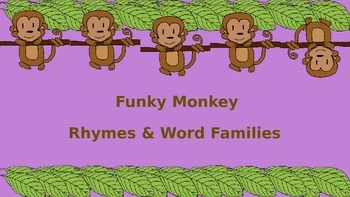 Funky Monkey Rhyming and Word Families