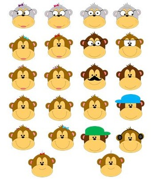 Funky Monkeys: Family Tree Clip Art