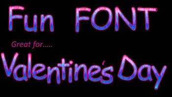 FONT-Ombre great for Valentine's Day