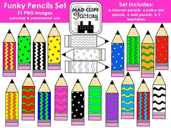 Funky Pencils Set