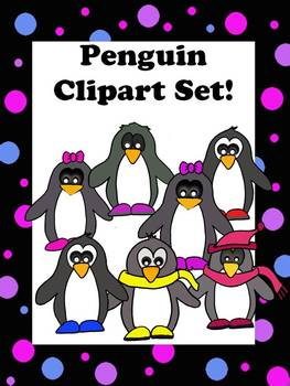 Funky Penguins Clipart Pack by Learning 4 Keeps Design!