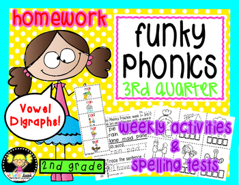 Funky Phonics: 2nd Grade Homework {3rd quarter}