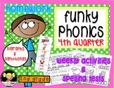 Funky Phonics: 2nd Grade Homework {4th quarter}