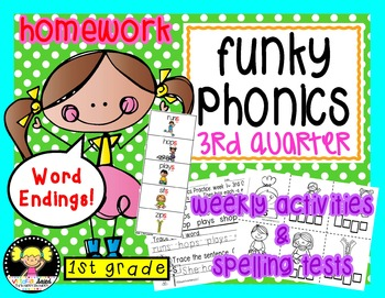 Funky Phonics: First Grade Homework {3rd quarter}