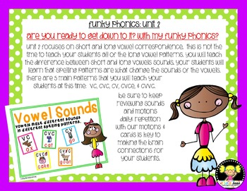 Funky Phonics: Unit 1 & 2 Bundled