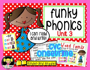 Funky Phonics: Unit 3 {Short Vowels}