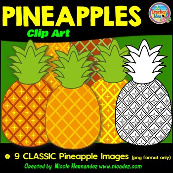 Classic Pineapples Clip Art for Teachers