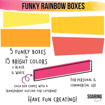 Funky Rainbow Boxes