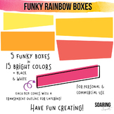 Funky Rainbow Boxes