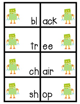 Funky Robots- A High Interest Matching Game for Beginning Readers