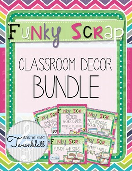 Funky Scrap Classroom Decor BUNDLE