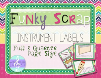 Funky Scrap Instrument Labels